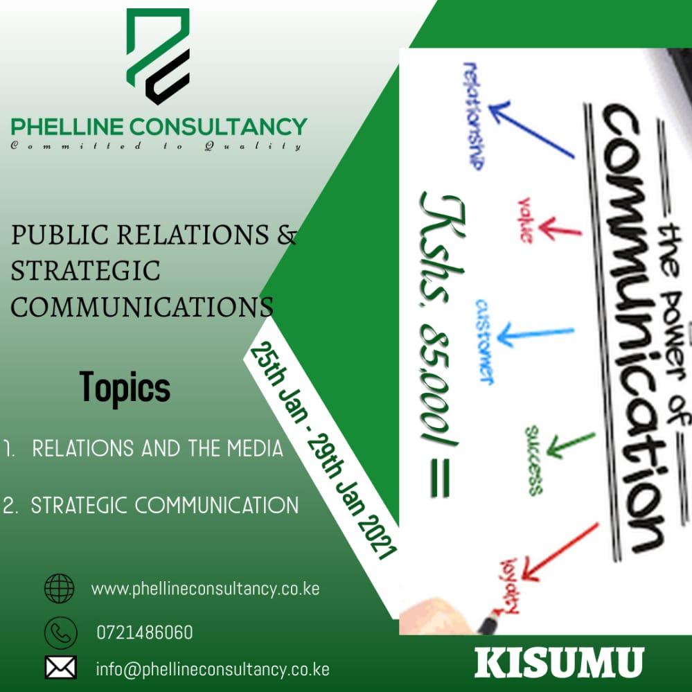 Public Relations and Strategic Communications Training Phelline Consultancy